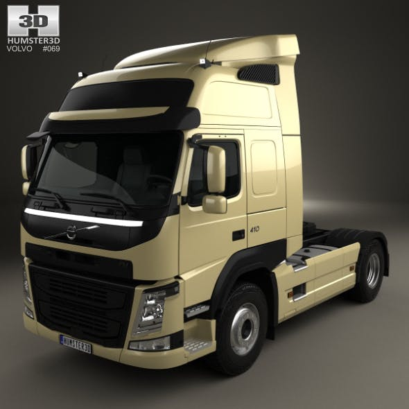 Volvo FM 410 Tractor Truck 2013 - 3DOcean Item for Sale