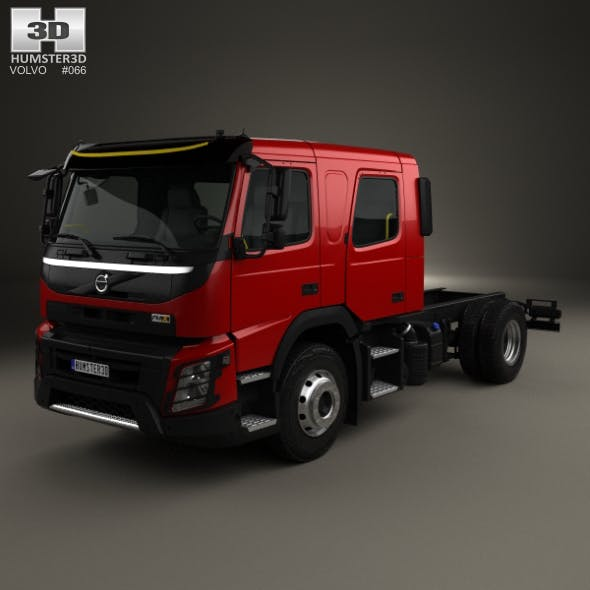 Volvo FMX Crew Cab Chassis Truck 2014 - 3DOcean Item for Sale