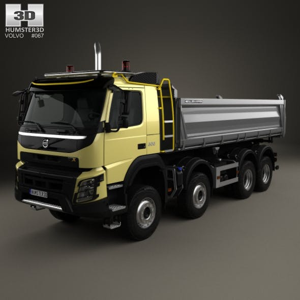 Volvo FMX Tipper Truck 2013 - 3DOcean Item for Sale