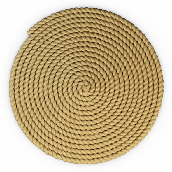A thick mat of jute rope - 3DOcean Item for Sale