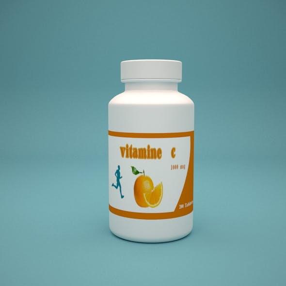Vitamin Tablets - 3DOcean Item for Sale