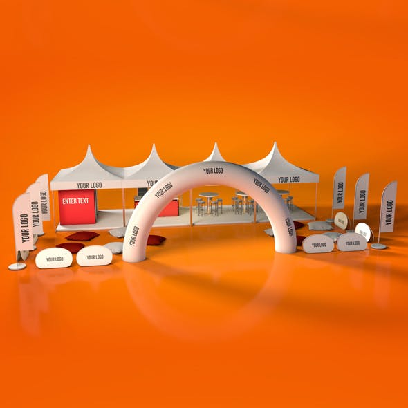Outdoor Event Tent Stand - 3DOcean Item for Sale