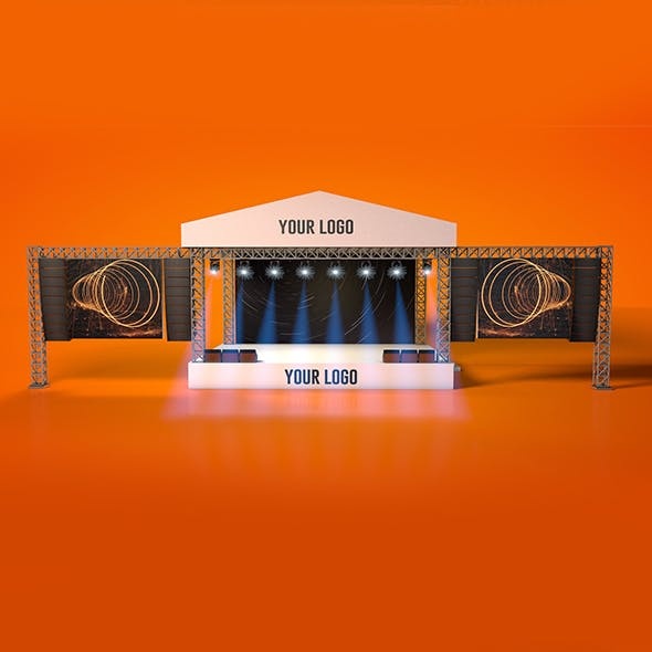 Outdoor Concert Stage - 3DOcean Item for Sale
