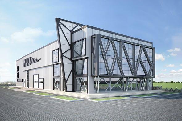 Exterior Factory Building - 3DOcean Item for Sale
