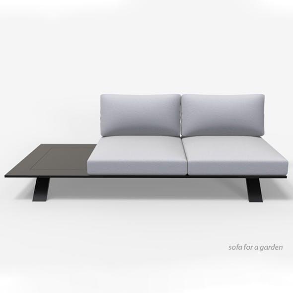 Sofa for a garden