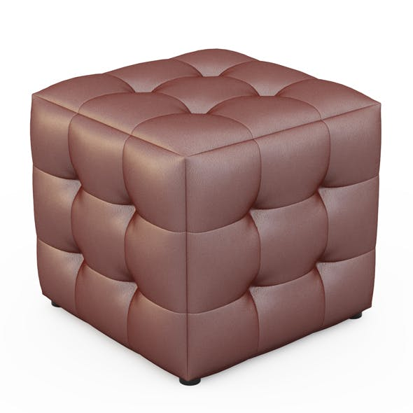 Leather pouf - 3DOcean Item for Sale