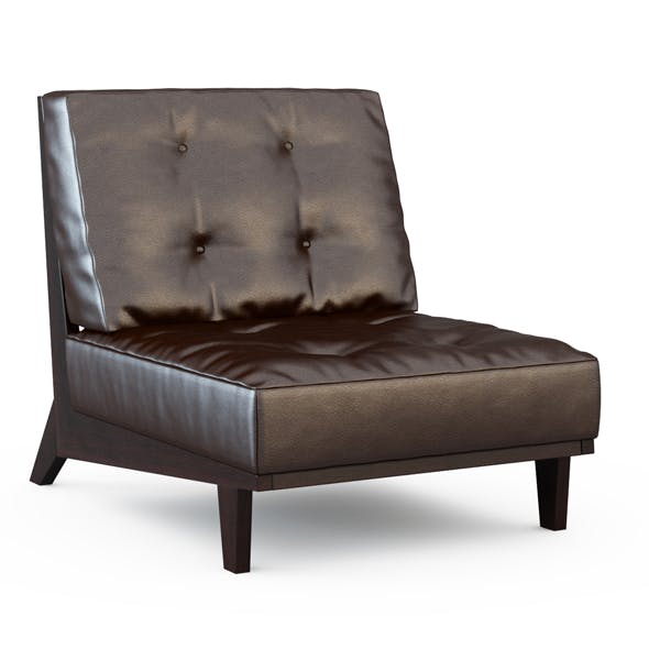 Armchair leather brown