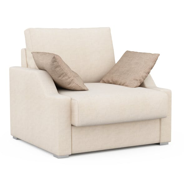 Armchair with pillows - 3DOcean Item for Sale