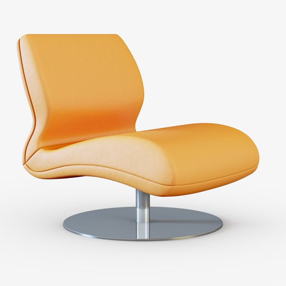Armchair leather orange - 3DOcean Item for Sale