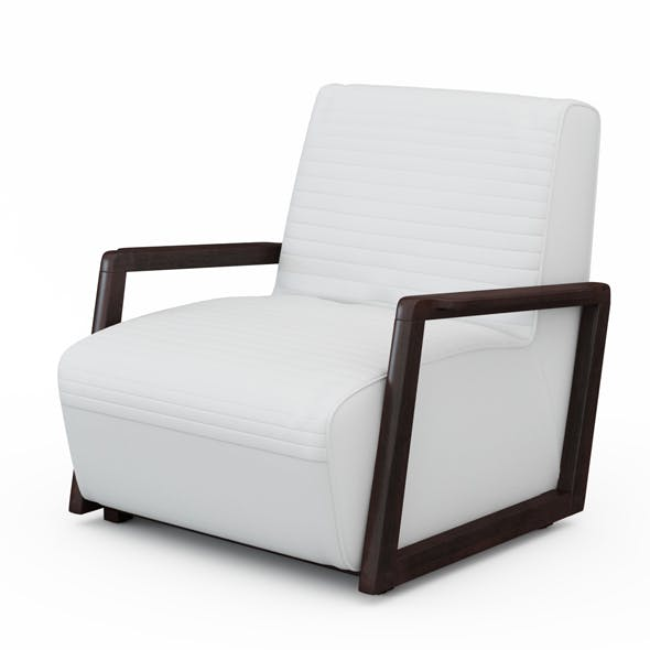 Armchair white leather - 3DOcean Item for Sale