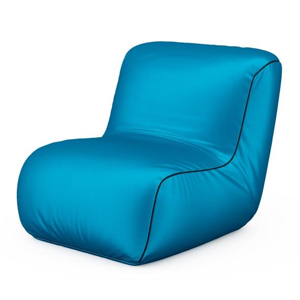 Armchair blue cloth - 3DOcean Item for Sale
