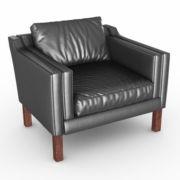 Armchair black leather - 3DOcean Item for Sale