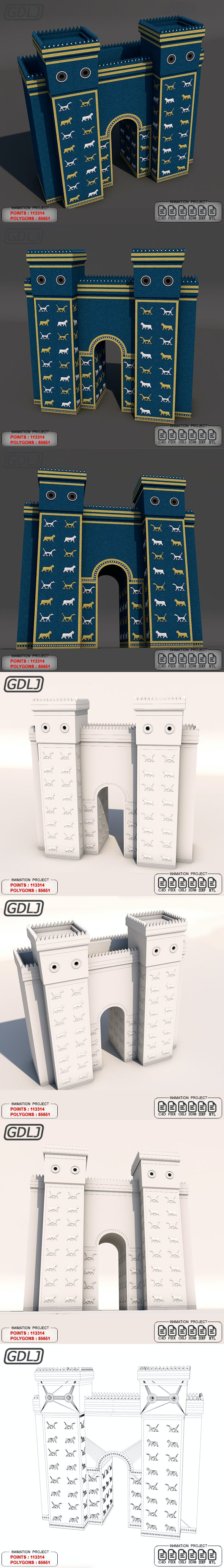 Ishtar Gate - 3DOcean Item for Sale