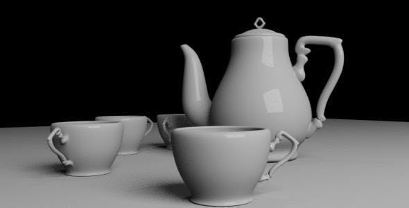 Teapot and Cup - 3DOcean Item for Sale