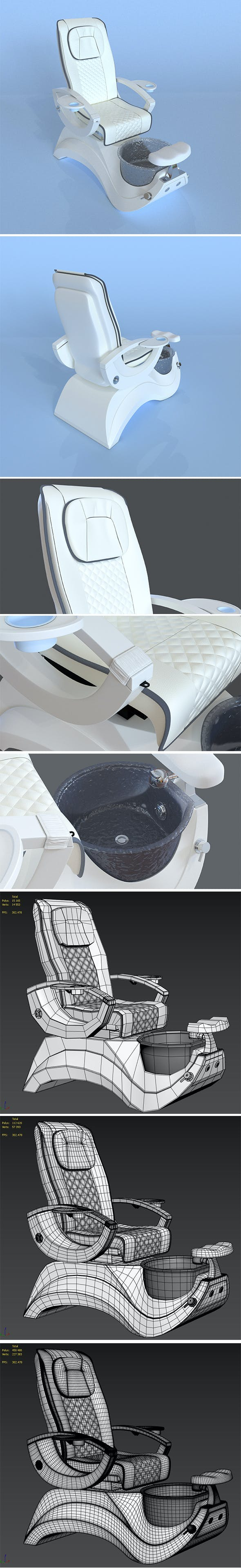 Whale SPA Pedicure Chair - 3DOcean Item for Sale