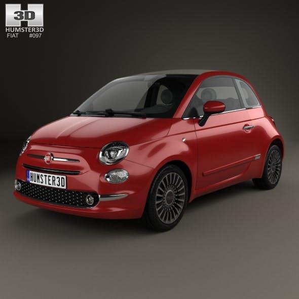 Fiat 500 C 2015 - 3DOcean Item for Sale