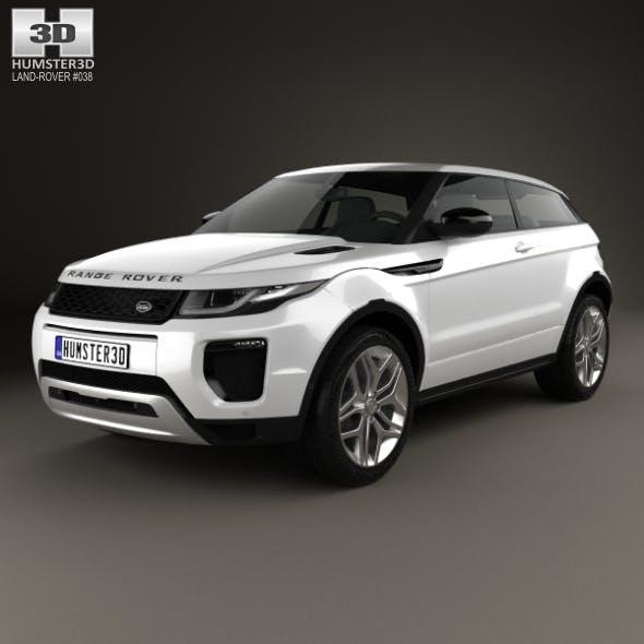 Land Rover Range Rover Evoque 3-door 2015 - 3DOcean Item for Sale