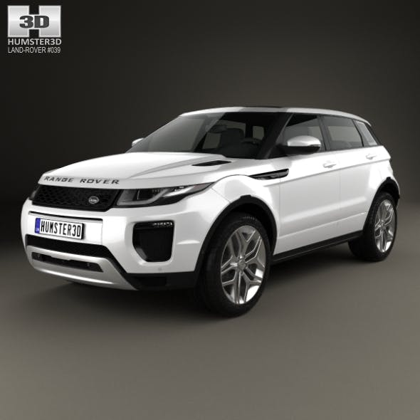 Land Rover Range Rover Evoque 5-door 2015 - 3DOcean Item for Sale