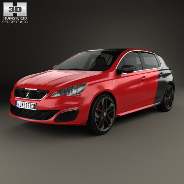 Peugeot 308 GTi 2015 - 3DOcean Item for Sale