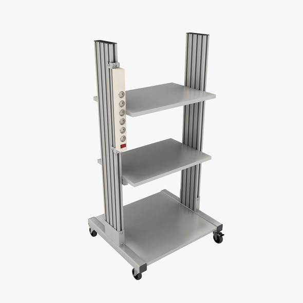 Mobile rack for electrical equipment 3 - 3DOcean Item for Sale