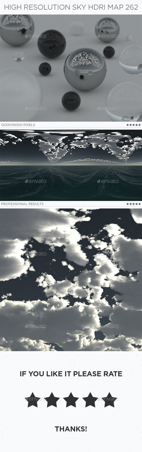 High Resolution Sky HDRi Map 262 - 3DOcean Item for Sale