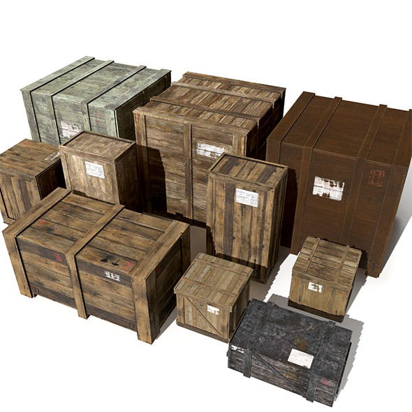 Transport crates Pack3 PBR