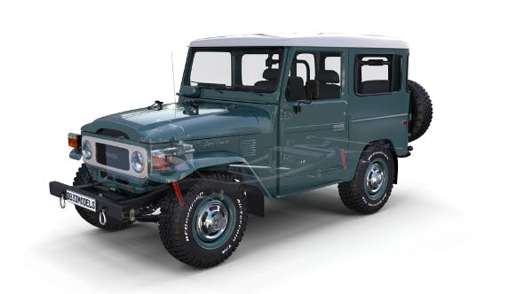 Toyota Land Cruiser FJ 40 with Interior and Chassis - 3DOcean Item for Sale