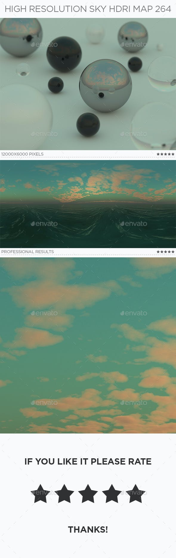 High Resolution Sky HDRi Map 264 - 3DOcean Item for Sale