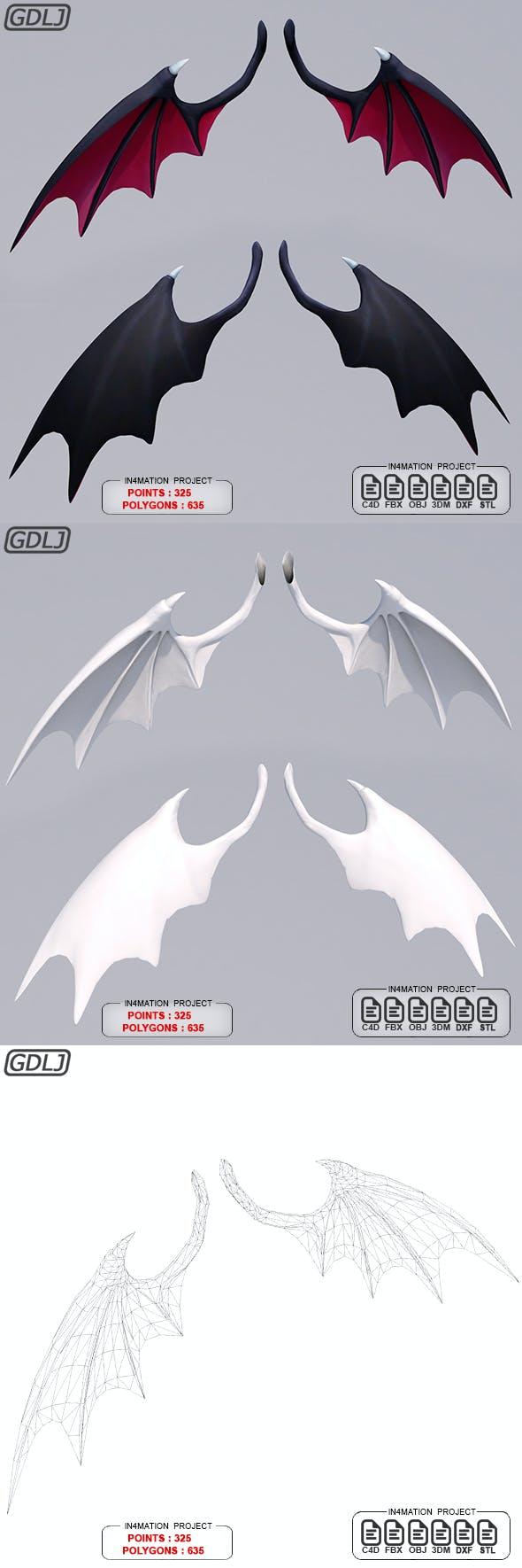 Wings bat - 3DOcean Item for Sale