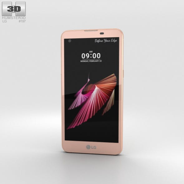 LG X Screen Pink Gold - 3DOcean Item for Sale