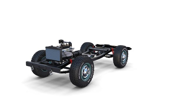 Full Offroad Vehicle Chassis - 3DOcean Item for Sale