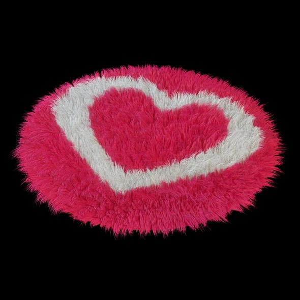Round rug heart - 3DOcean Item for Sale