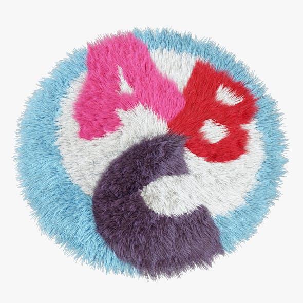 Carpet children A-B-C round - 3DOcean Item for Sale