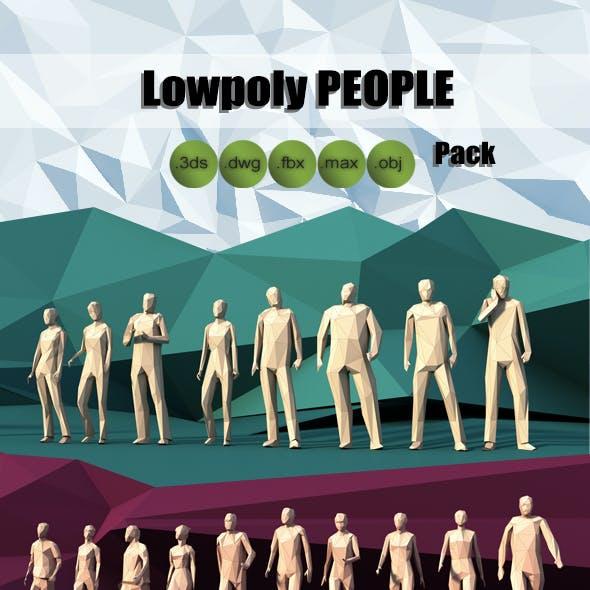 Lowpoly People Pack Walking Standing Running