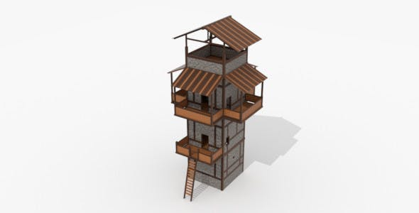 Roman Fantasy Watchtower - 3DOcean Item for Sale