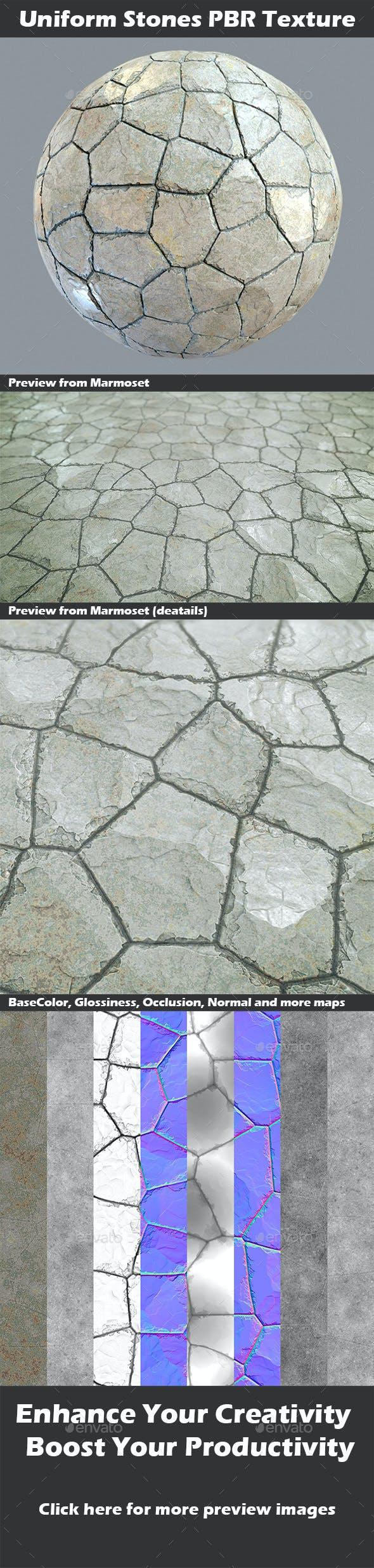 Uniform Stones v2 PBR Texture - 3DOcean Item for Sale