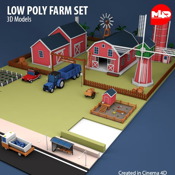 Low Poly Farm Set