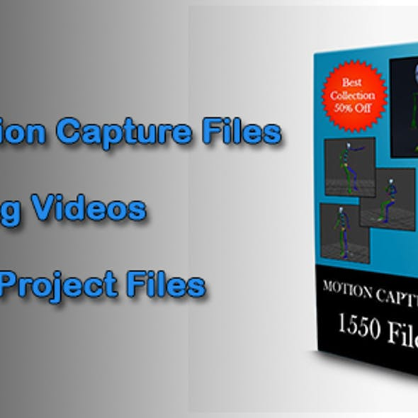 1550 Motion Capture Files
