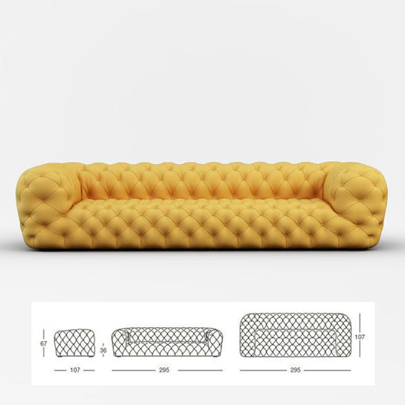 Chester Moon sofa - 3DOcean Item for Sale