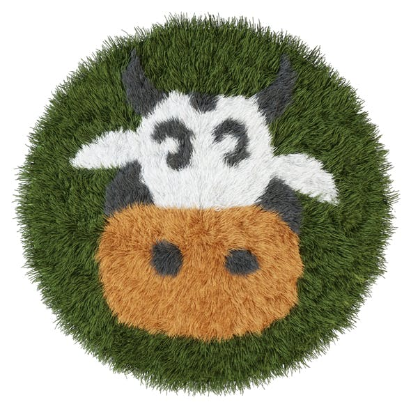 Children rug cow - 3DOcean Item for Sale