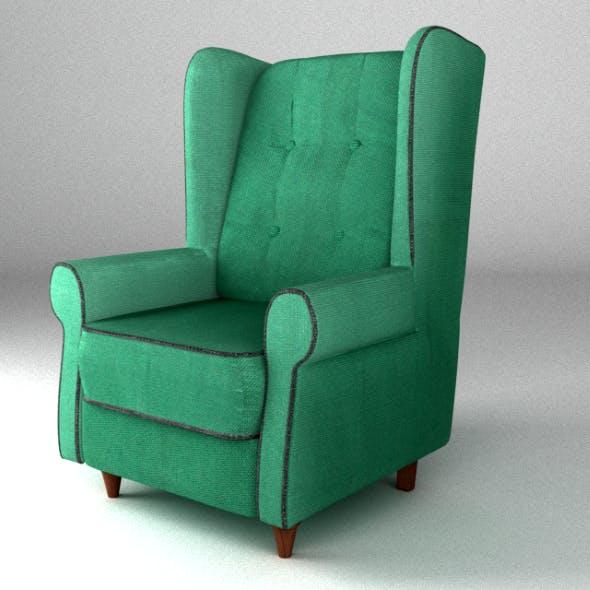 Armchair green - 3DOcean Item for Sale