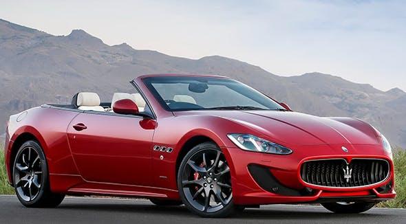 Red {convertible} Maserati GranTurismo MC. - 3DOcean Item for Sale