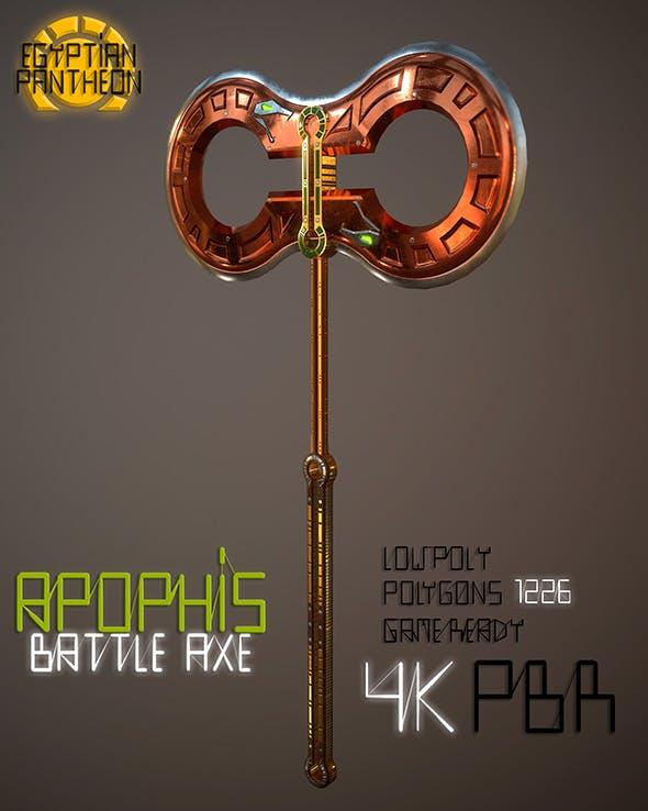 Egyptian Pantheon Apophis Battle Axe - 3DOcean Item for Sale