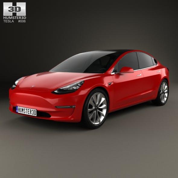 Tesla Model 3 2018 - 3DOcean Item for Sale