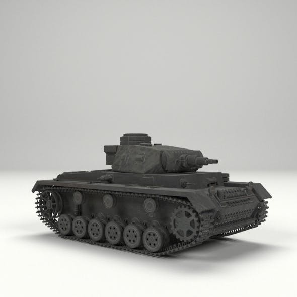 Panzer III tank - 3DOcean Item for Sale