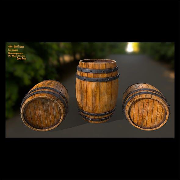 Wood_Barrel - 3DOcean Item for Sale