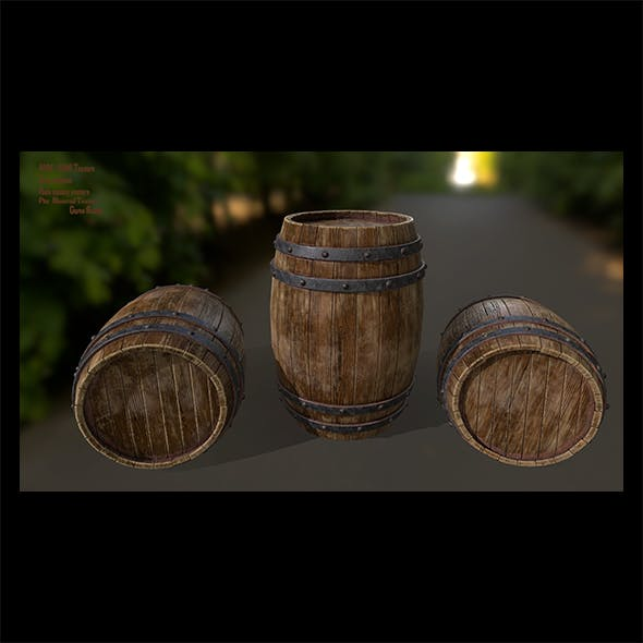 Wood_Barrel 1 - 3DOcean Item for Sale