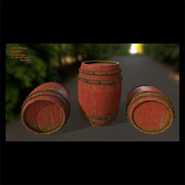 Wood_Barrel 3 - 3DOcean Item for Sale