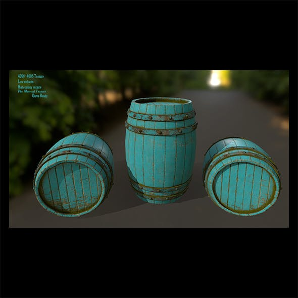 Wood_Barrel 4 - 3DOcean Item for Sale