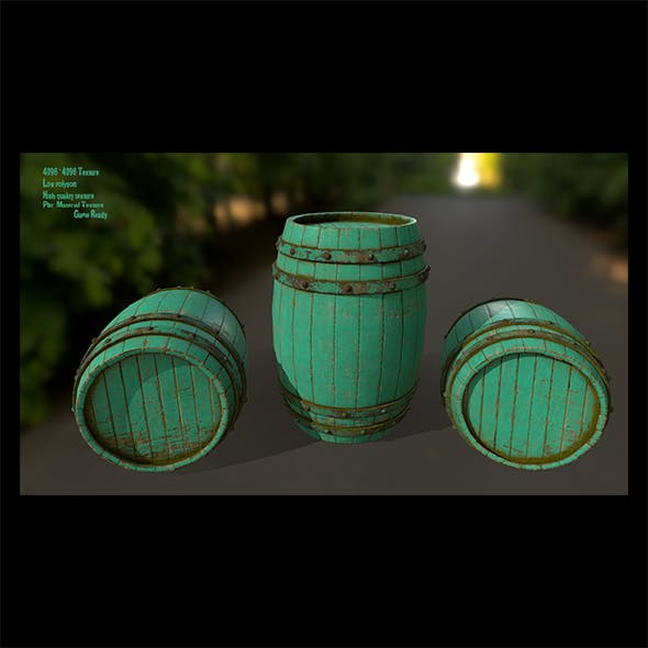 Wood_Barrel 5 - 3DOcean Item for Sale